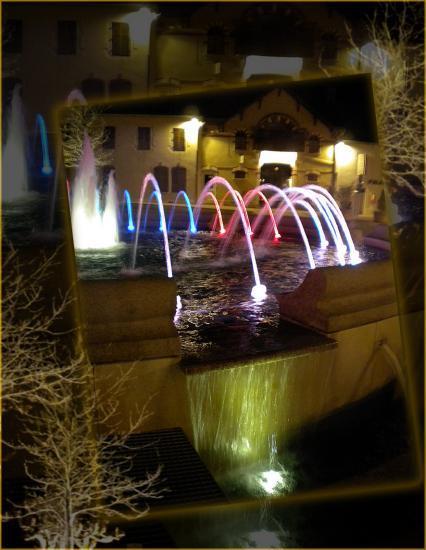 Jet d'eau-lumière