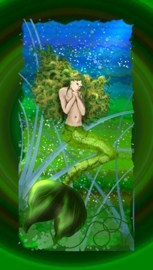 Sirène en vert